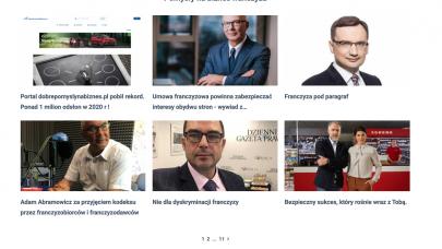 Portal dobrepomyslynabiznes.pl pobił rekord. Ponad 1 milion odsłon w 2020 r !